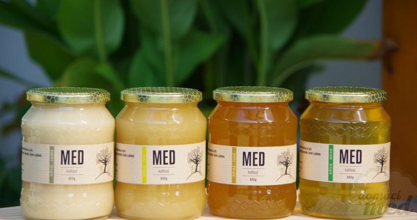 různé druhy medů