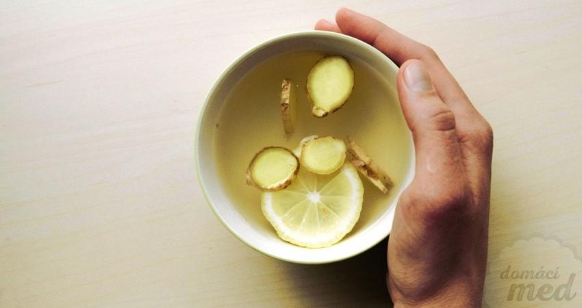 Med, zázvor, citrón