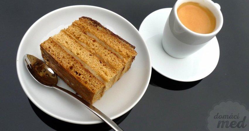 Medový dort - medové řezy
